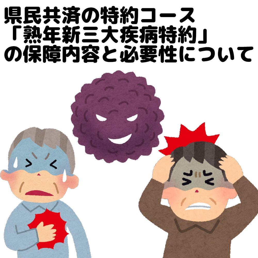 県民共済の熟年新三大疾病特約の保障内容