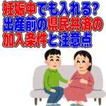 県民共済 妊娠 加入条件