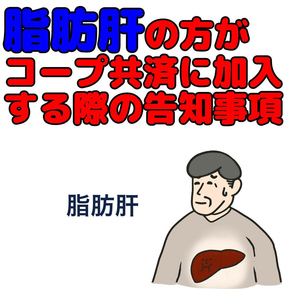 脂肪肝でコープ共済加入時の告知事項について